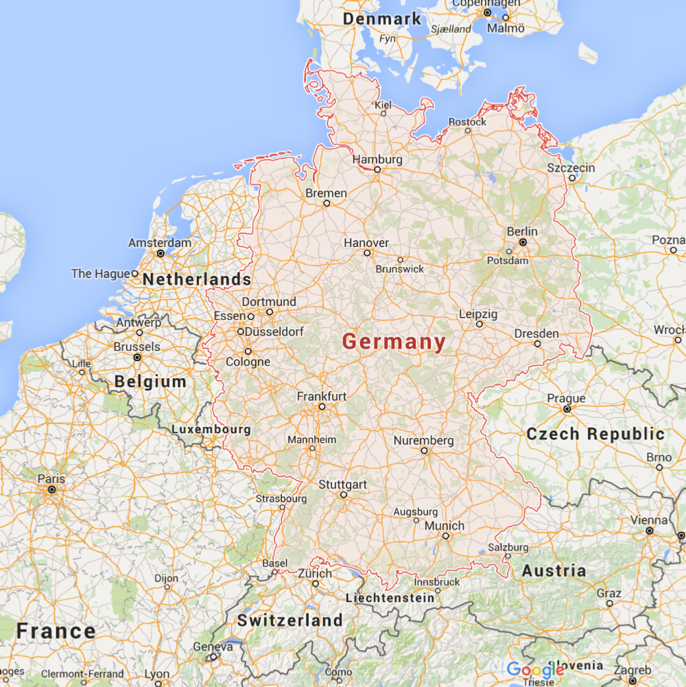 Map of Germany 1