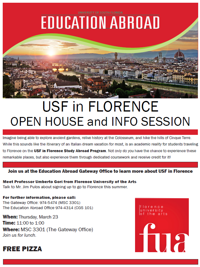 USF in Florence OpenHouse 2017