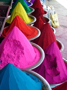 A picture of dyes in India